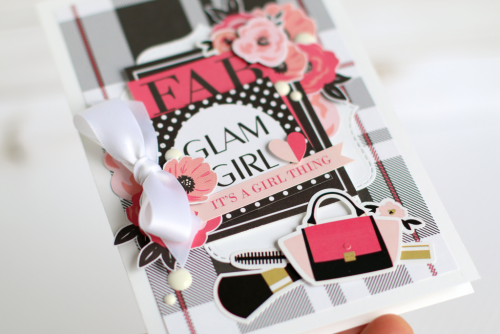 """""""Glam Girl"""" card created by Anya Lunchenko with the """"Fashionista"""" collection by #EchoParkPaper"""