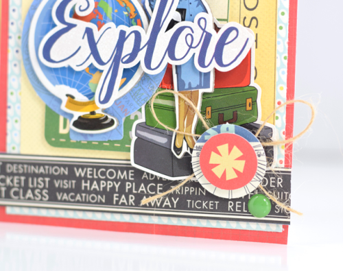 """Explore Card by Tya Smith featuring the """"Passport"""" collection by #CartaBellaPaper"""