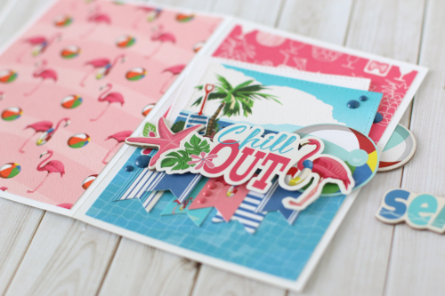 """Chill Out"" card by Anya Lunchenko with the ""Summer Splash"" collection by #CartaBellaPaper"