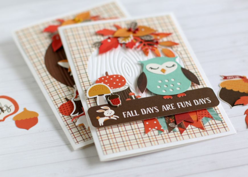 "Fall Card Set by Anya Lunchenko featuring the ""Celebrate Autumn"" collection by #EchoParkPaper"