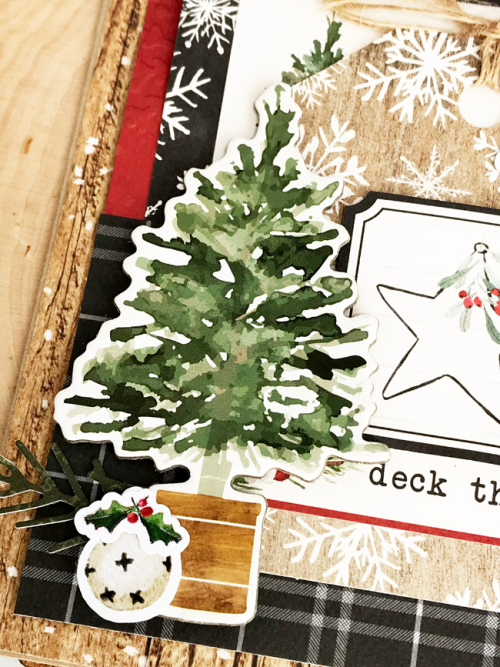 "Deck the Halls Christmas Card by Tya Smith featuring the ""Christmas"" collection by #CartaBellaPaper"