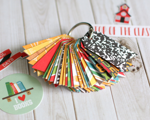 """Back to School"" Alphabet Key Chain by Anya Lunchenko for #EchoParkPaper"