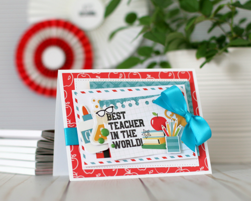 """Back to School"" teacher card by Anya Lunchenko for #EchoParkPaper"