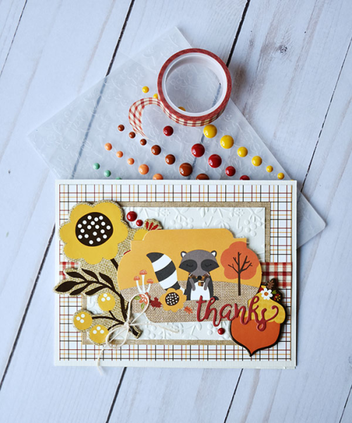 "Thanks card by Wendy Sue Anderson featuring the ""Celebrate Autumn"" collection and designer products by #EchoParkPaper"