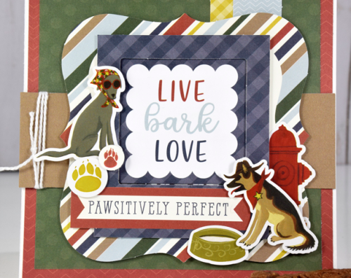 "A Pawsitively Perfect card by Tya Smith featuring the ""A Dog's Tail"" Collection by #EchoParkPaper"