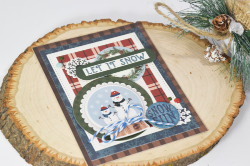 """Winter Snow Card by Tya Smith featuring the """"Let it Snow"""" Collection by #CartaBellaPaper"""