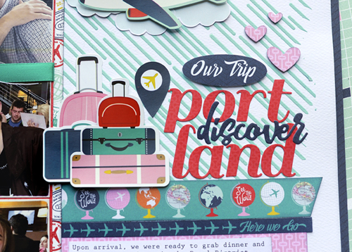 "Vacation layout by Jana Eubank featuring the ""Pack Your Bags"" collection by #CartaBellaPaper"