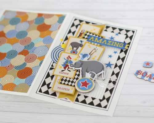 "A Wonderful and Amazing ""Circus"" card set by Anya Lunchenko for #CartaBellaPaper"