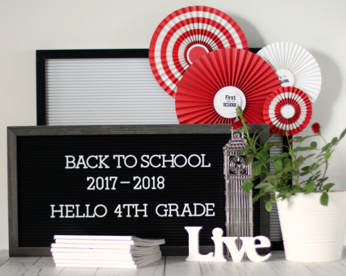 """Back to School"" Party Decoration by Anya Lunchenko for #EchoParkPaper"