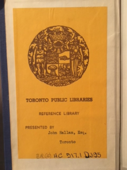 Toronto Public Library bookplate from 1953