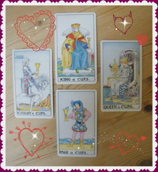 Suit of Cups Court Cards