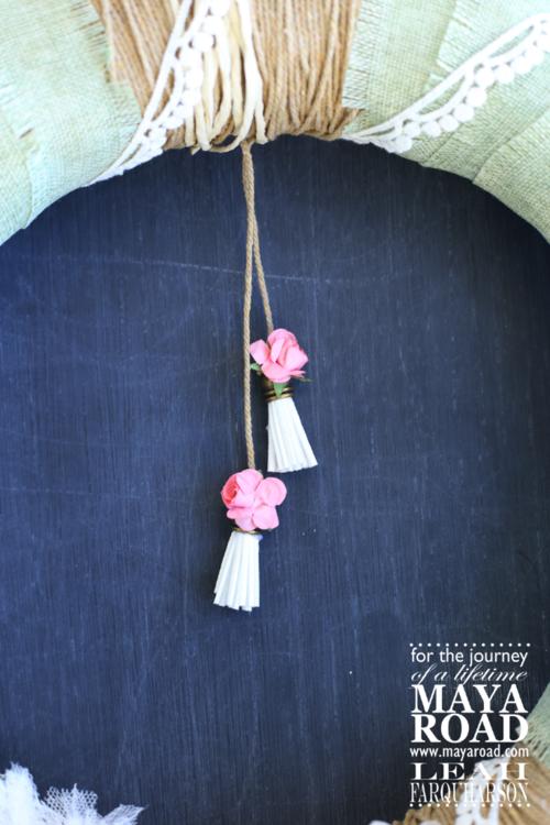 Leah farquharson maya road wreath deatil 3