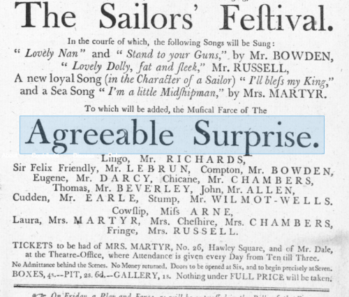 Detail from a playbill