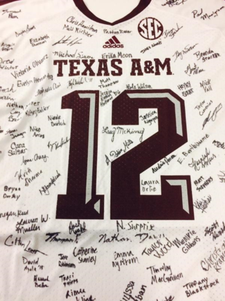12th Man SIgned Tshirt