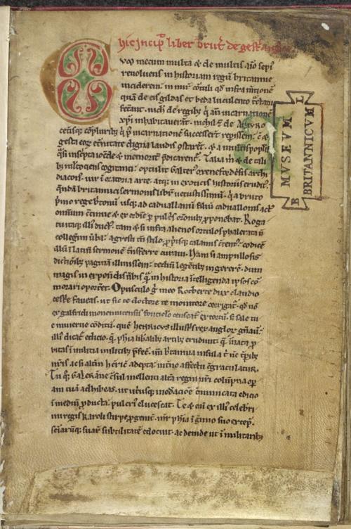 Lansdowne MS 732, f. 1r