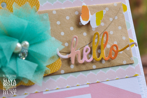 Close Up 2 Hello Card by Katrina Hunt