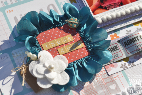 Scrapbook Layout Chipboard Frame Maya Road