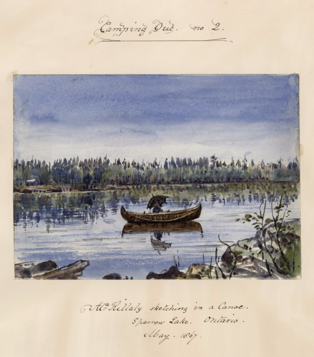 Sketching from Canoe 1867