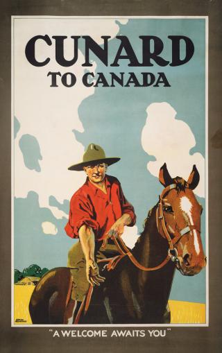 "Cunard to Canada: ""A Welcome Awaits You,"" Nottingham, England: Thos. Forman & Sons, Ltd., broadside, 1930."
