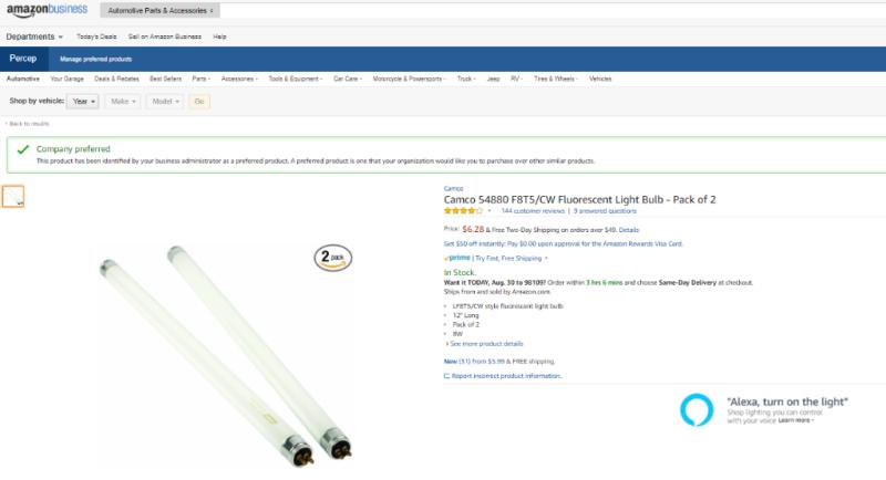 Curation Light bulbs Preferred