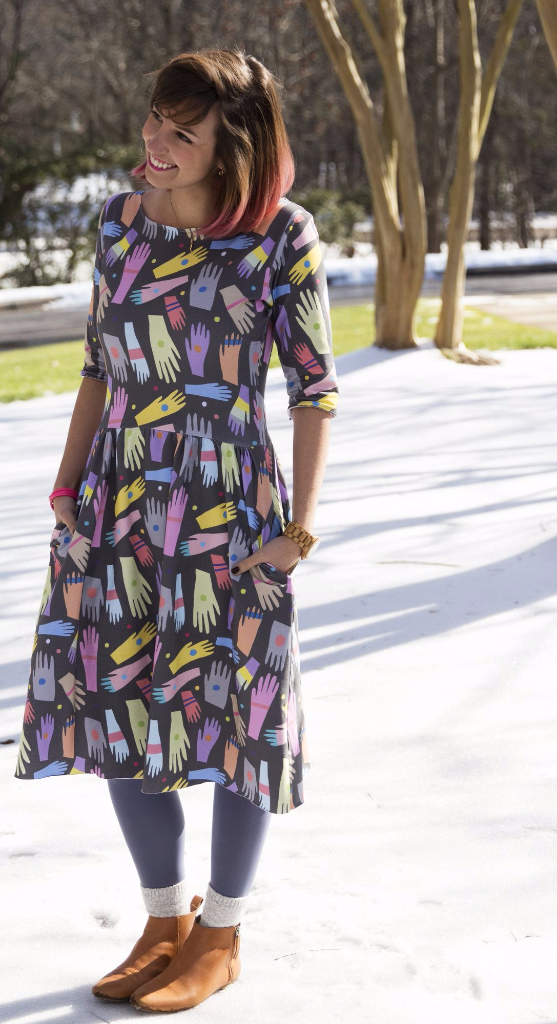 Sew and design your own Moneta dress with Spoonflower and Sprout Patterns!
