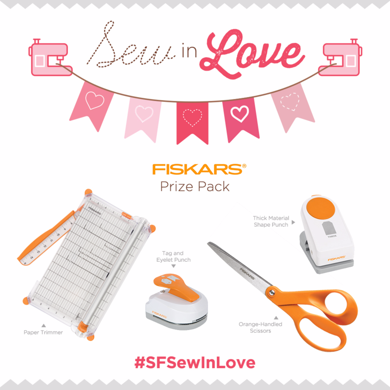 Enter now to our #SFSewInLove contest to win great prizes from Fiskars!