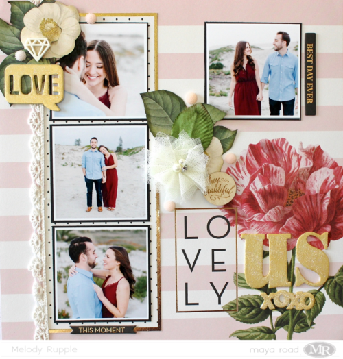Love Us Scrapbook Layout