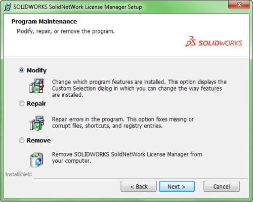 SolidNetWork license manager setup